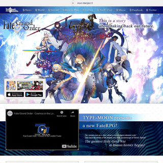 Fate-Grand Order Official USA Website
