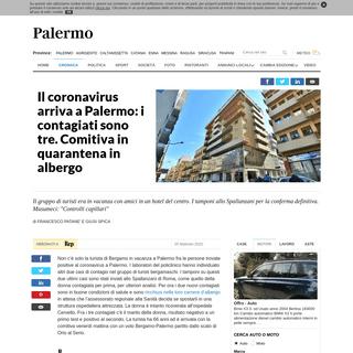 ArchiveBay.com - palermo.repubblica.it/cronaca/2020/02/25/news/palermo_caso_sospetto_a_palermo_turista_di_bergamo_ricoverata_al_cervello-249516268/ - Il coronavirus arriva a Palermo- i contagiati sono tre. Comitiva in quarantena in albergo - la Repubblica