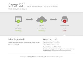 topnewscoin.com - 521- Web server is down