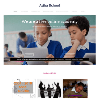 Atika School - knec kcse past papers, kcpe online, notes and quiz