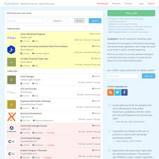 ArchiveBay.com - crypto.jobs - Blockchain and Cryptocurrency Jobs - CryptoJobs
