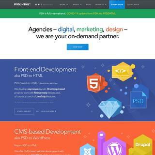 PSD to HTML, WordPress, Drupal, Magento & others – PSD2HTML®