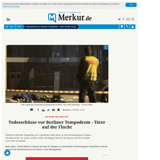 Todesschüsse vor Berliner Tempodrom - Täter auf der Flucht - Welt