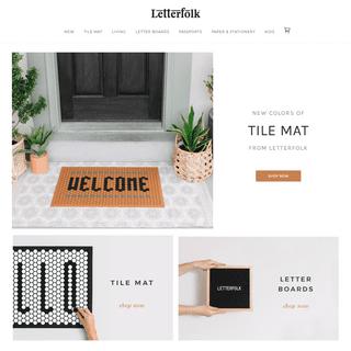 ArchiveBay.com - letterfolk.com - Letterfolk — Creative & Timeless Modern Goods for the Home