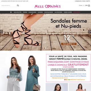 MissCoquines - Vêtement Femme, Homme, Chaussures, Lingeries, Sacs, vêtement pas cher