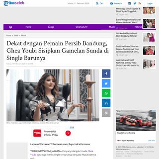 Dekat dengan Pemain Persib Bandung, Ghea Youbi Sisipkan Gamelan Sunda di Single Barunya - Tribunnews.com