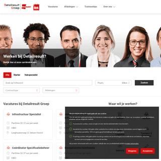 Homepage - Werken bij Detailresult Groep
