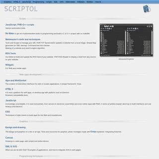 Scriptol.com - Programming with standards