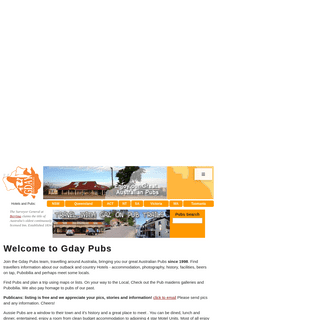Welcome to Gday Pubs - Gday Pubs - Enjoy our Great Australian Pubs