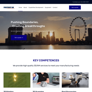 Forefront Additive Manufacturing Pte Ltd