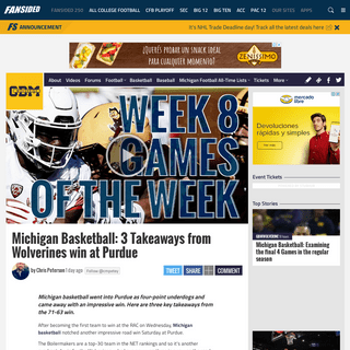 Michigan Basketball- 3 Takeaways from Wolverines win at Purdue
