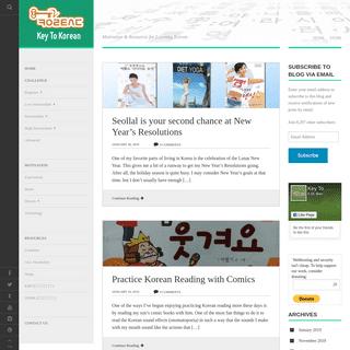 Key to Korean - Motivation & Resources for Learning Korean