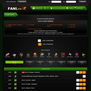 ArchiveBay.com - fani.tv - Fani.TV - oglądaj transmisje sportowe w internecie- Watch sport streams online for free- Oglądaj telewizję w internecie za da