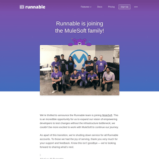 Runnable Joins the MuleSoft Family