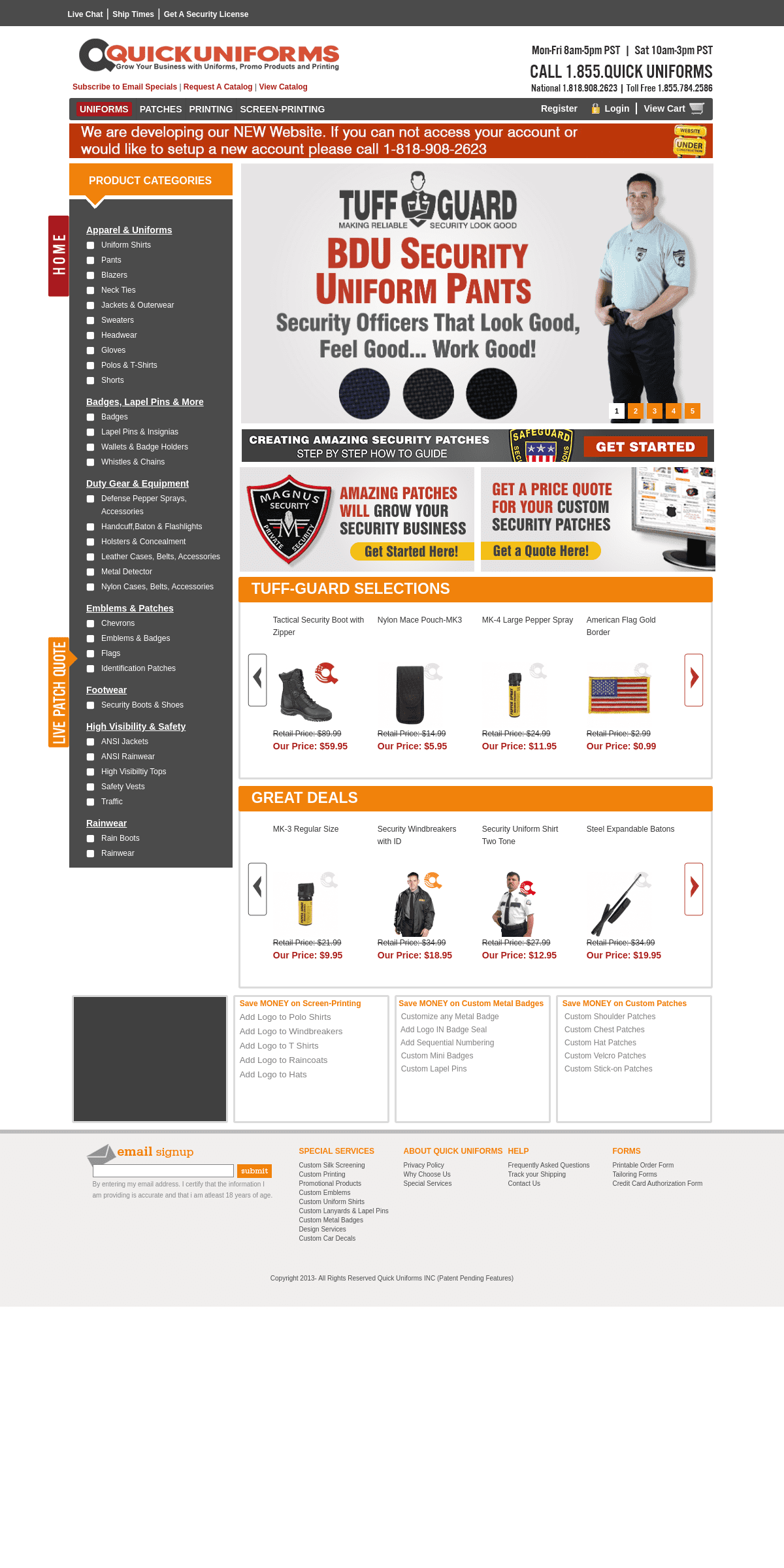 Quick Uniform - Manufacturer of Uniforms, Promo Products and Printing