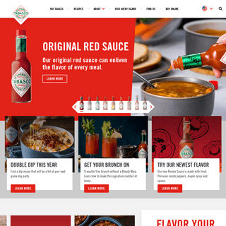 #1 Hot Sauce Asked For By Name - TABASCO® Brand Pepper Sauce