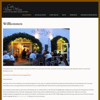 Cafe Ulmer Münz – Die Oase in der Ulmer Altstadt – Restaurant und Galerie