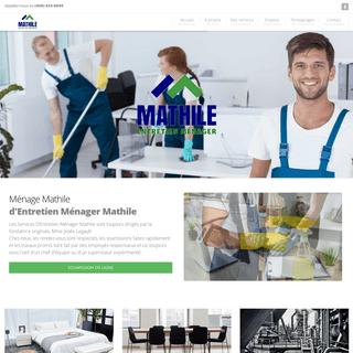 Ménage Mathilde, personnel formé pour l'entretien ménager.