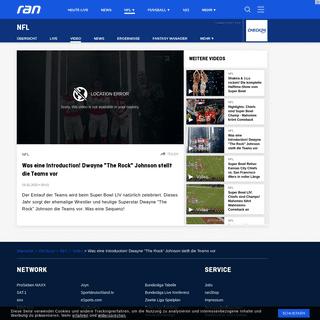 NFL - Video - Was eine Introduction! Dwayne -The Rock- Johnson stellt die Teams vor - Ran