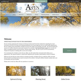 Home - Aspen Cremation Service