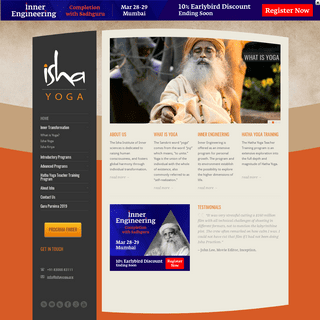 Isha Yoga Programs - Isha Institute of Inner Sciences