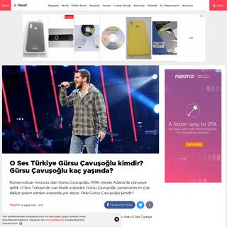 O Ses Türkiye Gürsu Çavuşoğlu kimdir- Gürsu Çavuşoğlu kaç yaşında- - Magazin haberleri