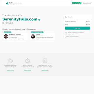 The domain name SerenityFalls.com is for sale