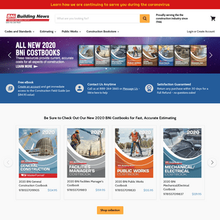 Construction books, cost estimating books, and building codes from BNi