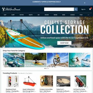 StoreYourBoard - Racks, Bags, and Accs. for Bikes, Kayaks, Skis, SUPs, Surfboards, and more