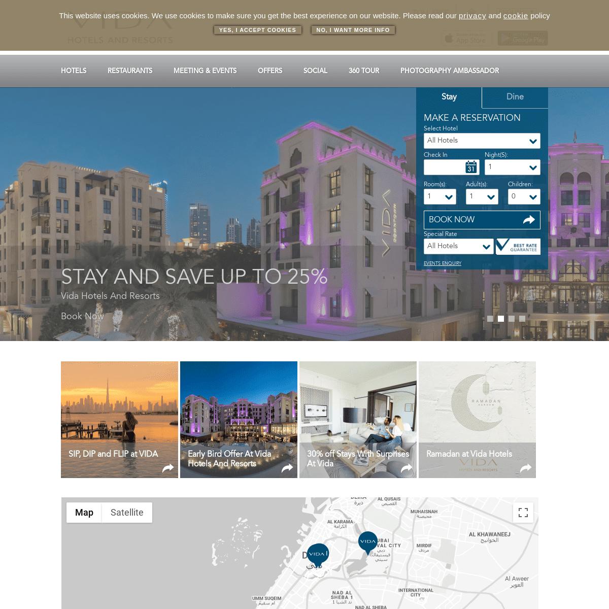 Lifestyle Hotels in Downtown Dubai, Emirates Hills and Dubai Creek Harbour - vidahotels.com