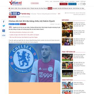 Chelsea chi 38 triệu bảng chiêu mộ Hakim Ziyech