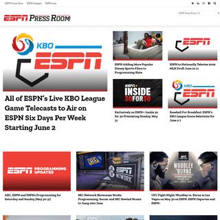 ESPN Press Room - for Media Professionals (formerly ESPN MediaZone)