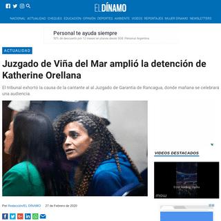 Juzgado de Viña del Mar amplió la detención de Katherine Orellana - El Dínamo