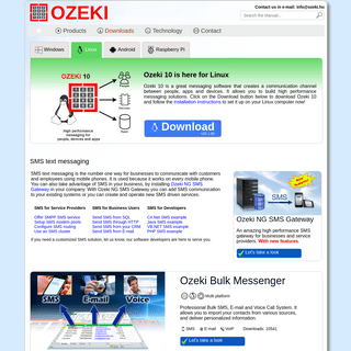 OZEKI - Messaging Software Products (SMS, VoIP, Chat, IoT, Robotics)