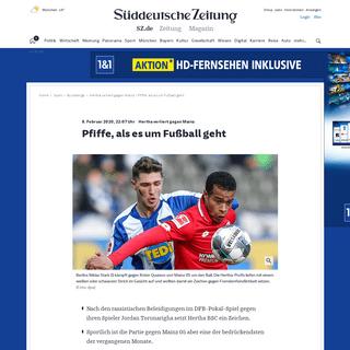 Hertha verliert gegen Mainz - Pfiffe, als es um Fußball geht - Sport - SZ.de