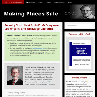 Security Consultant Chris E. McGoey near Los Angeles and San Diego California