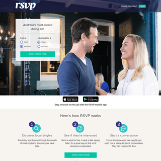 RSVP - Online Dating, Singles, Love @ RSVP Australia's most trusted dating site