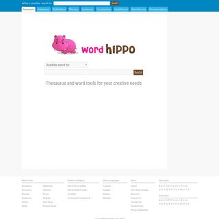 Thesaurus and Word Tools - WordHippo