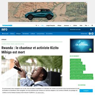 Rwanda - le chanteur et activiste Kizito Mihigo est mort
