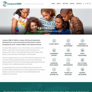 Congress WBN - Faith-Based Global Human Development