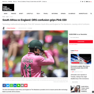 South Africa vs England- DRS confusion grips Pink ODI