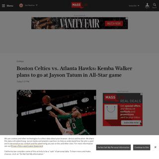 Boston Celtics vs. Atlanta Hawks- Kemba Walker plans to go at Jayson Tatum in All-Star game - masslive.com