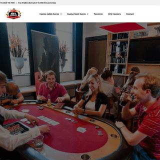 Mobiel Casino huren incl. croupiers - Casinotafels huren in de Randstad