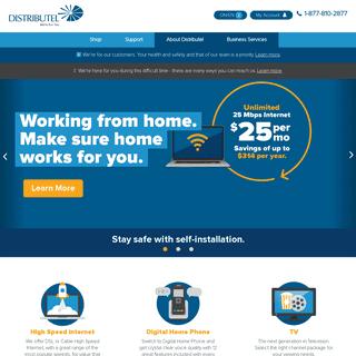 Internet Services Provider - Home Phone, TV - Distributel.ca