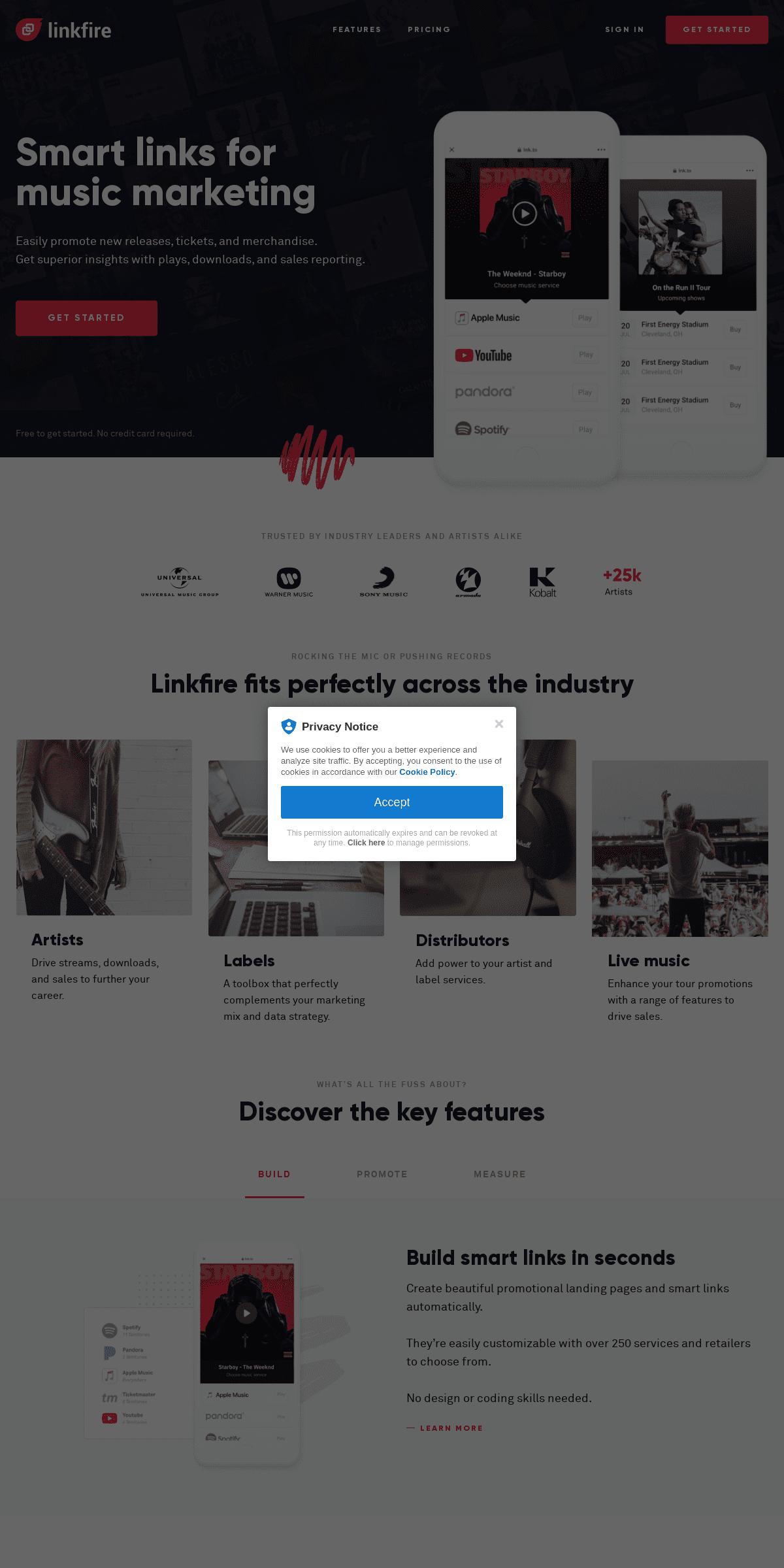 ArchiveBay.com - linkfire.com - Smart links for music marketing, artist marketing, and tours promotion