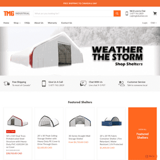 FREE Shipping on Party Tents, Shelters, Machinery Attachments & Tools — TMG Industrial