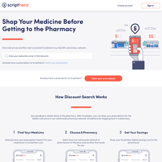 ArchiveBay.com - scripthero.co - Prescription Medication Discounts, Prices and More - ScriptHero