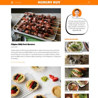 Vietnamese Food Recipes & Blog - HungryHuy.com