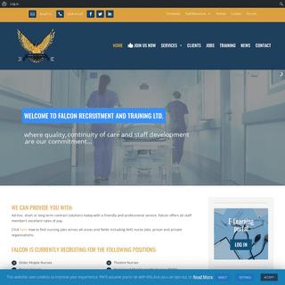 Falcon Recruitment and Training Ltd - Healthcare Recruitment Serving the UK