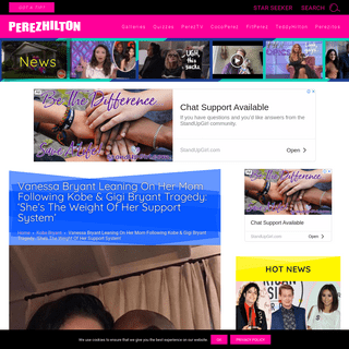 ArchiveBay.com - perezhilton.com/vanessa-bryant-kobe-bryant-daughter-death-leaning-on-mom/ - Vanessa Bryant Leaning On Her Mom Following Kobe & Gigi Bryant Tragedy- 'She's The Weight Of Her Support System' - Perez Hilton